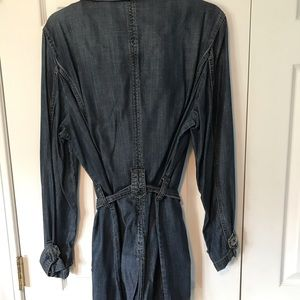Chico's Jackets & Coats - Chico's Unlined Blue Jean trench jacket with belt